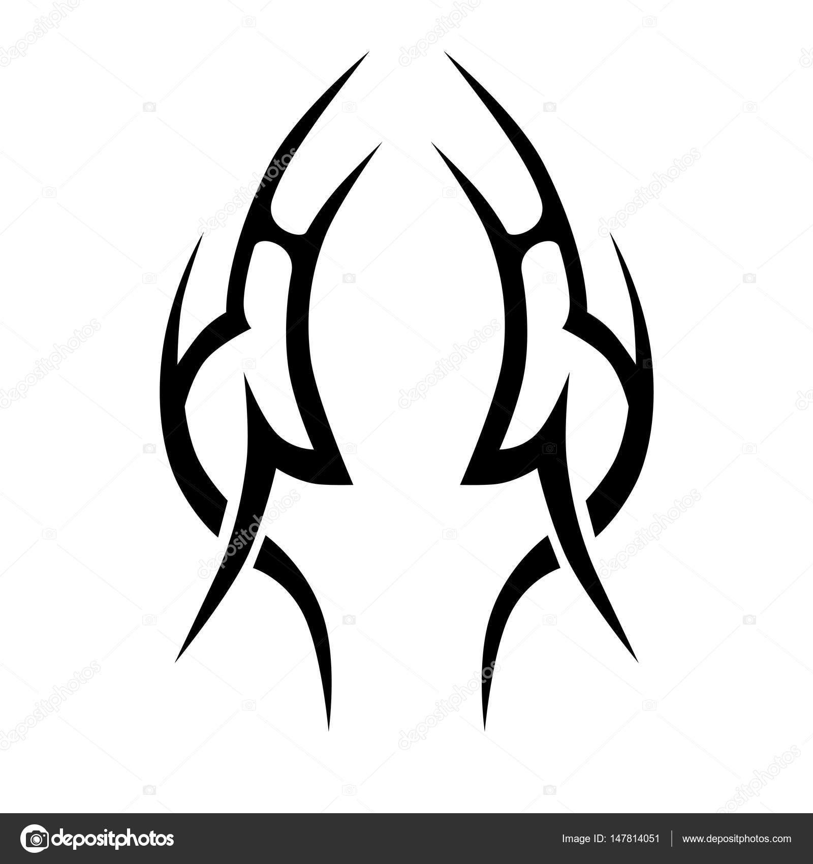 Tatuaż Tribal Płomień Wzorów Wektorowych Grafika Wektorowa