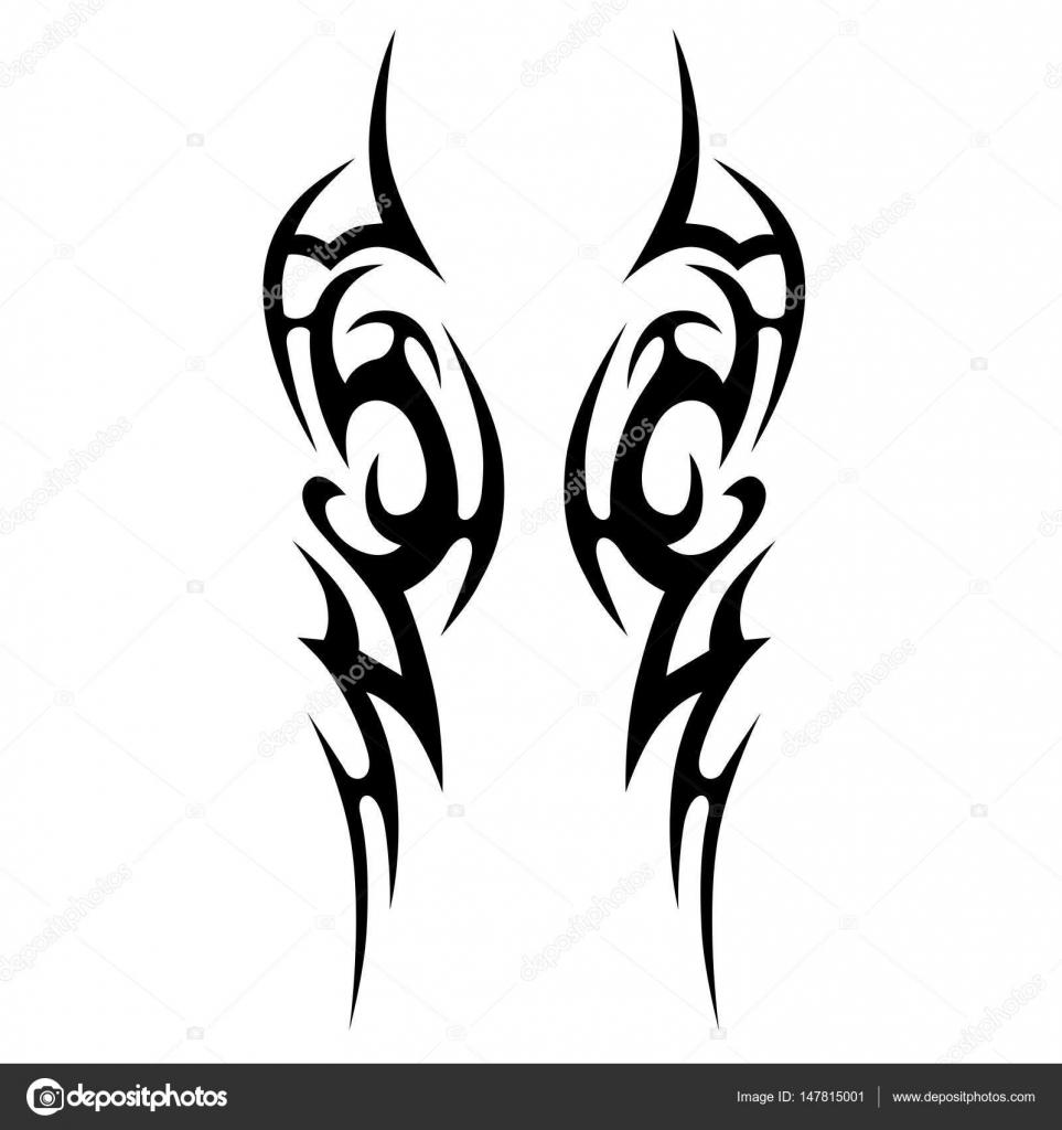 dessins de tatouage tribal vecteur image vectorielle. Black Bedroom Furniture Sets. Home Design Ideas