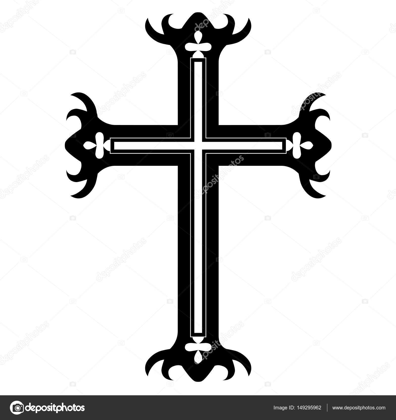 Tatuaż Krzyż Wzory Na Białym Tle Szkic Wektor Tatuaż Sztuki
