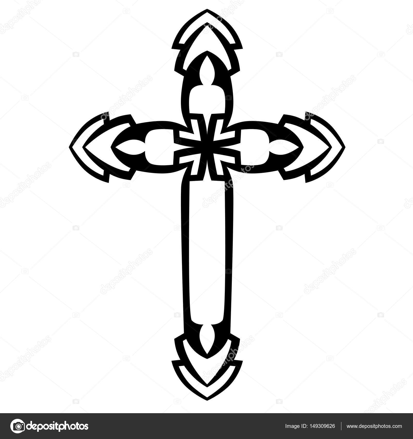 tattoo tribal cross designs isolated vector sketch of a tattoo art 963x1024 jpeg. Black Bedroom Furniture Sets. Home Design Ideas