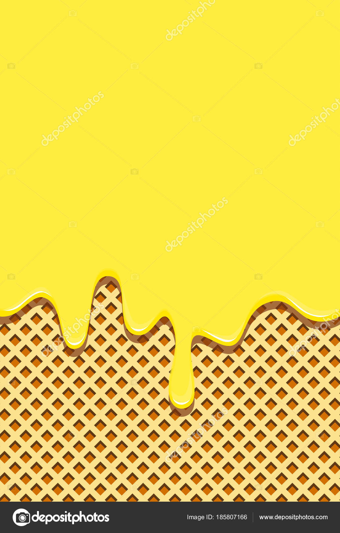 Waffle background filled sweet yellow glaze horizontally draining waffle background filled sweet yellow glaze horizontally draining waffle hot stock vector voltagebd Gallery