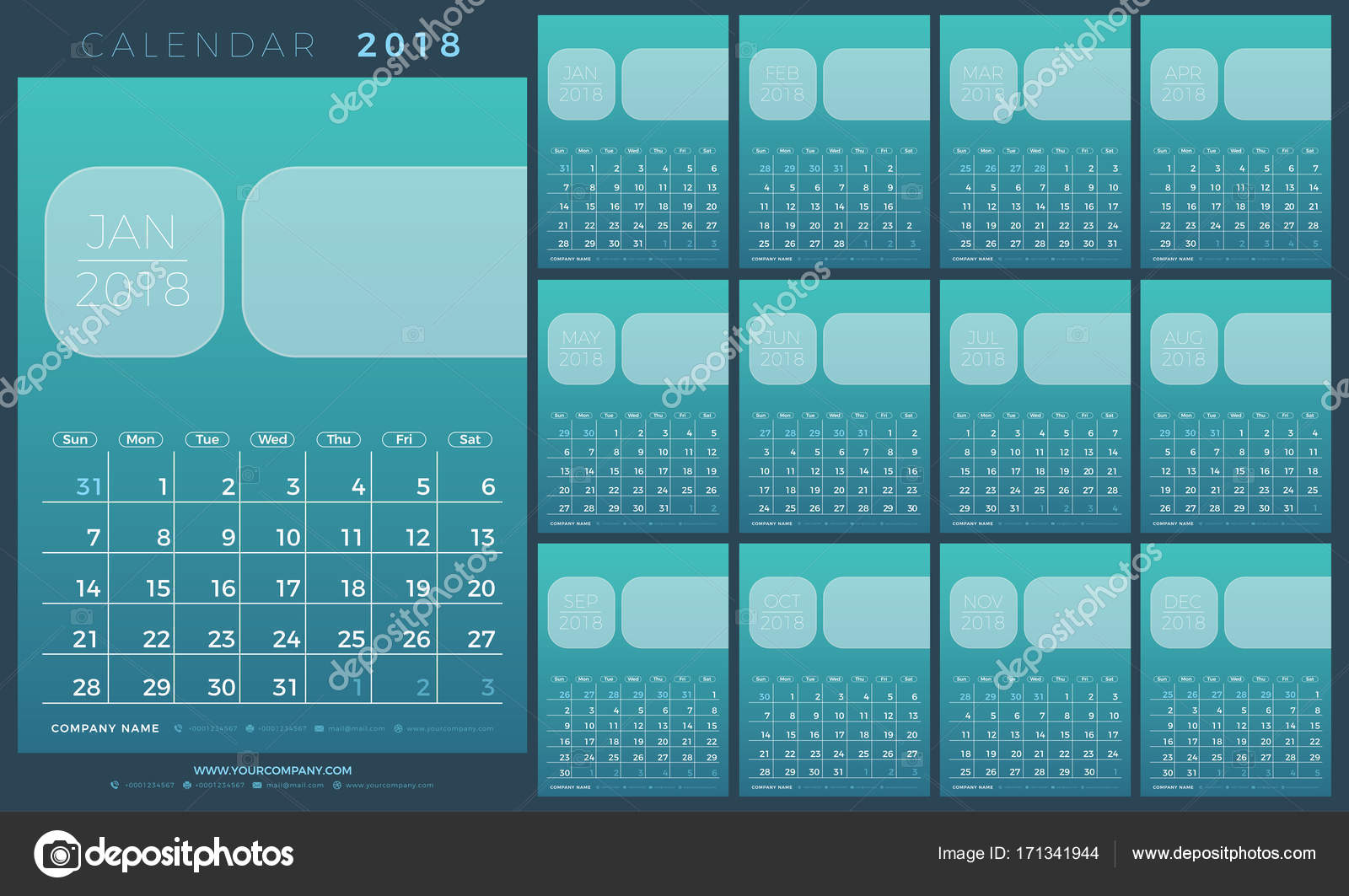 Calendar planner 2018 year simple minimal wall type calendar calendar planner 2018 year simple minimal wall type calendar template week starts from sunday saigontimesfo
