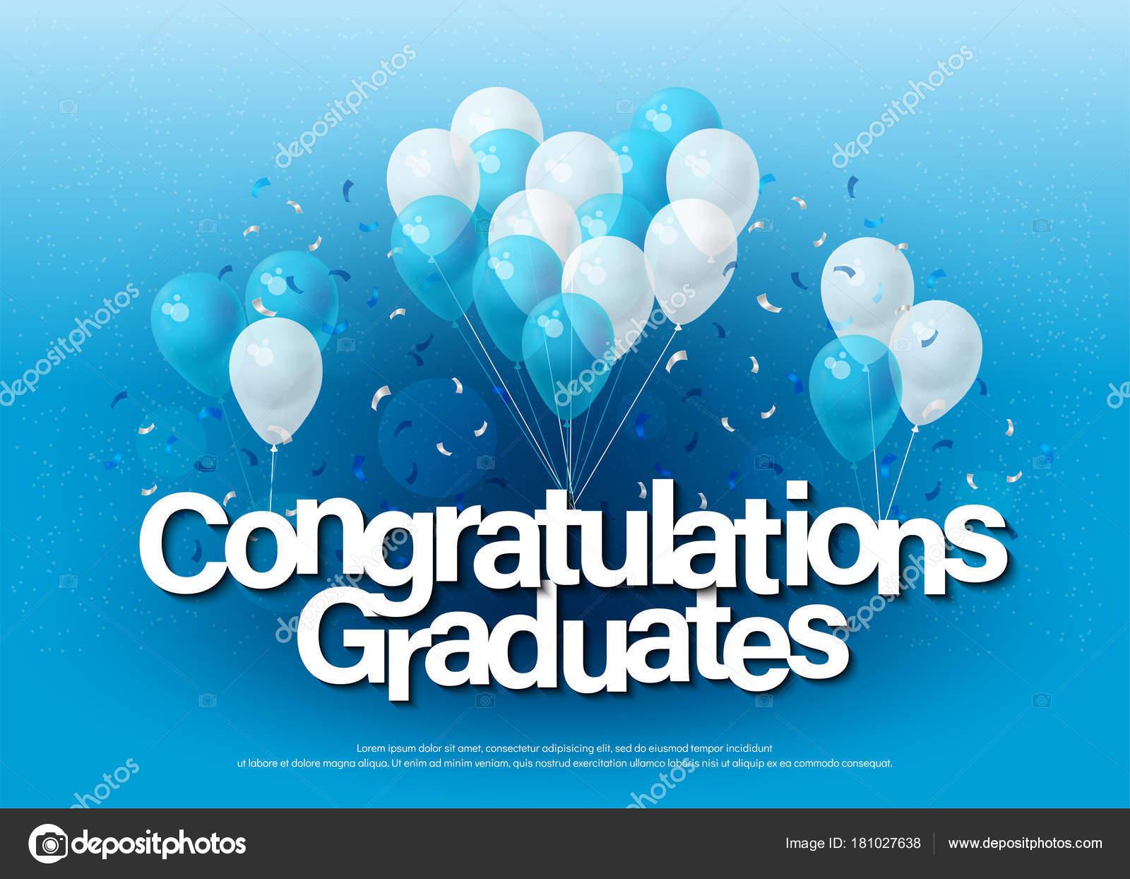 Plantilla Letras Tarjeta Felicitación Felicitaciones Graduados Con ...