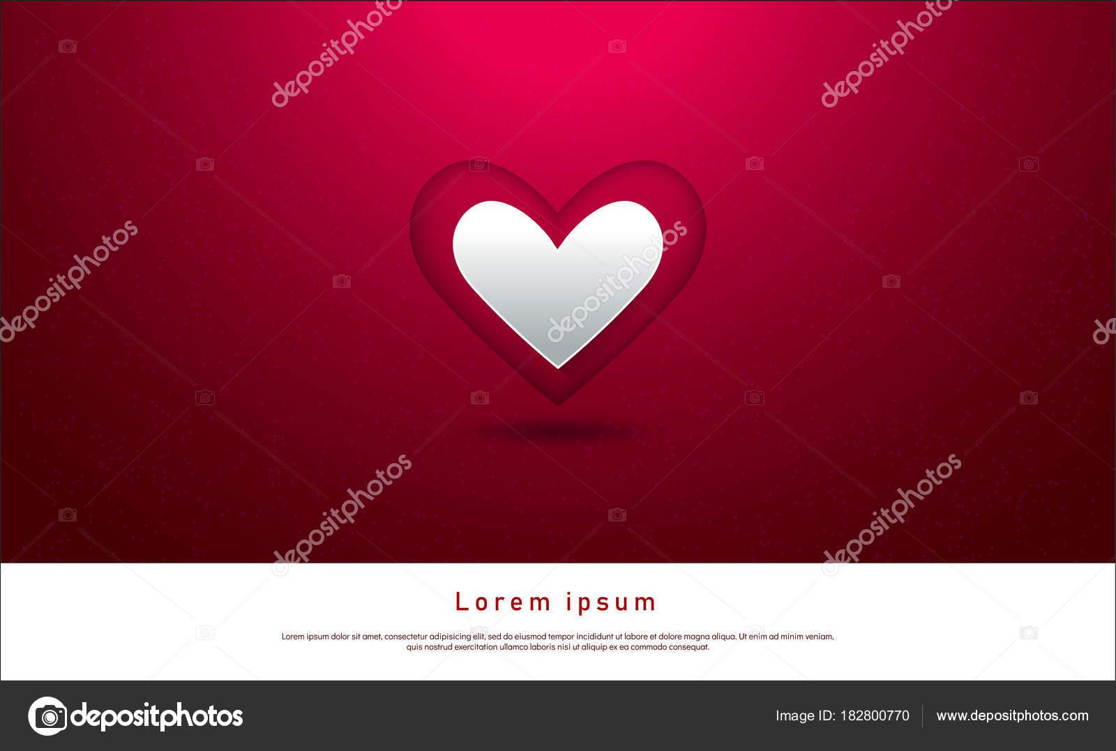 Valentinstag Grußkarten Vorlage Einladung Mit Herzen Und Konfetti ...