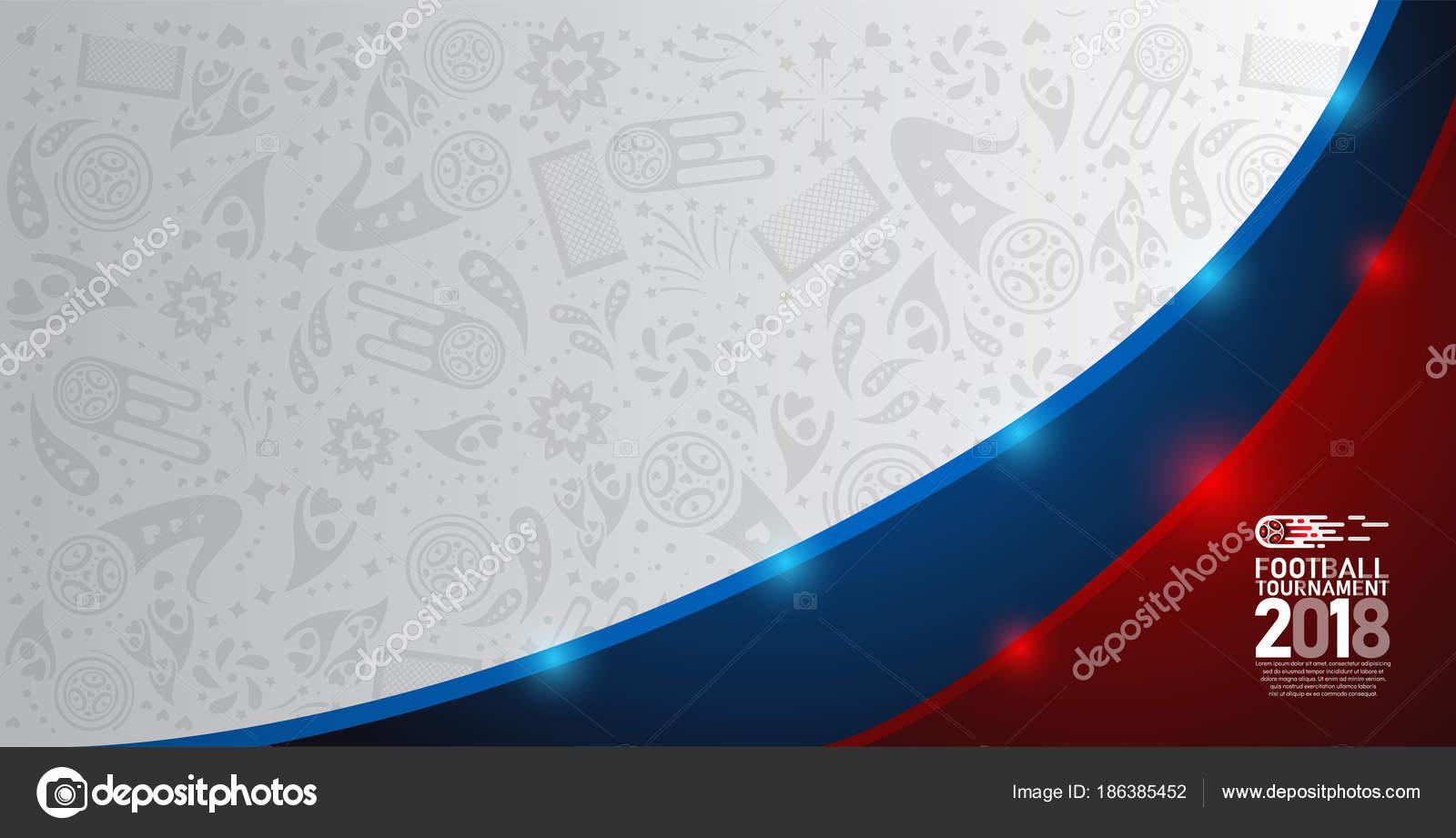 Campeonato Fútbol Copa Mundial 2018 Blanco Azul Rojo