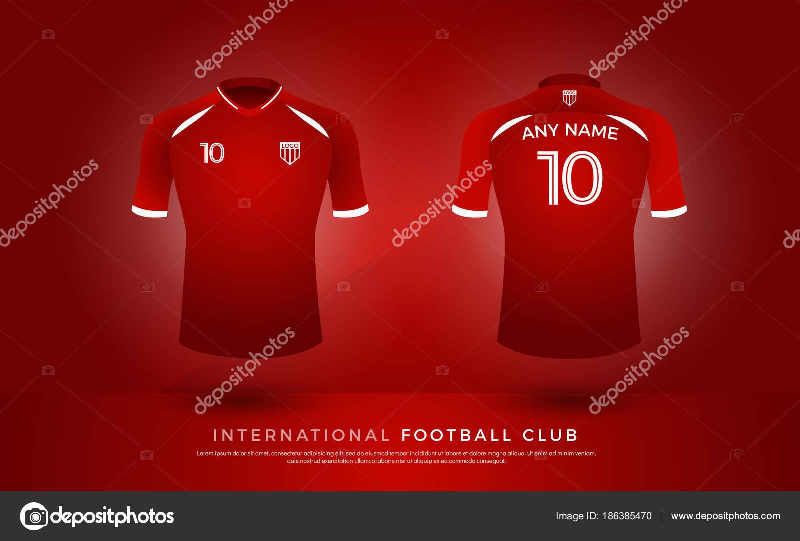 Soccer Shirt Design Uniform Set Soccer Kit Football Jersey Template