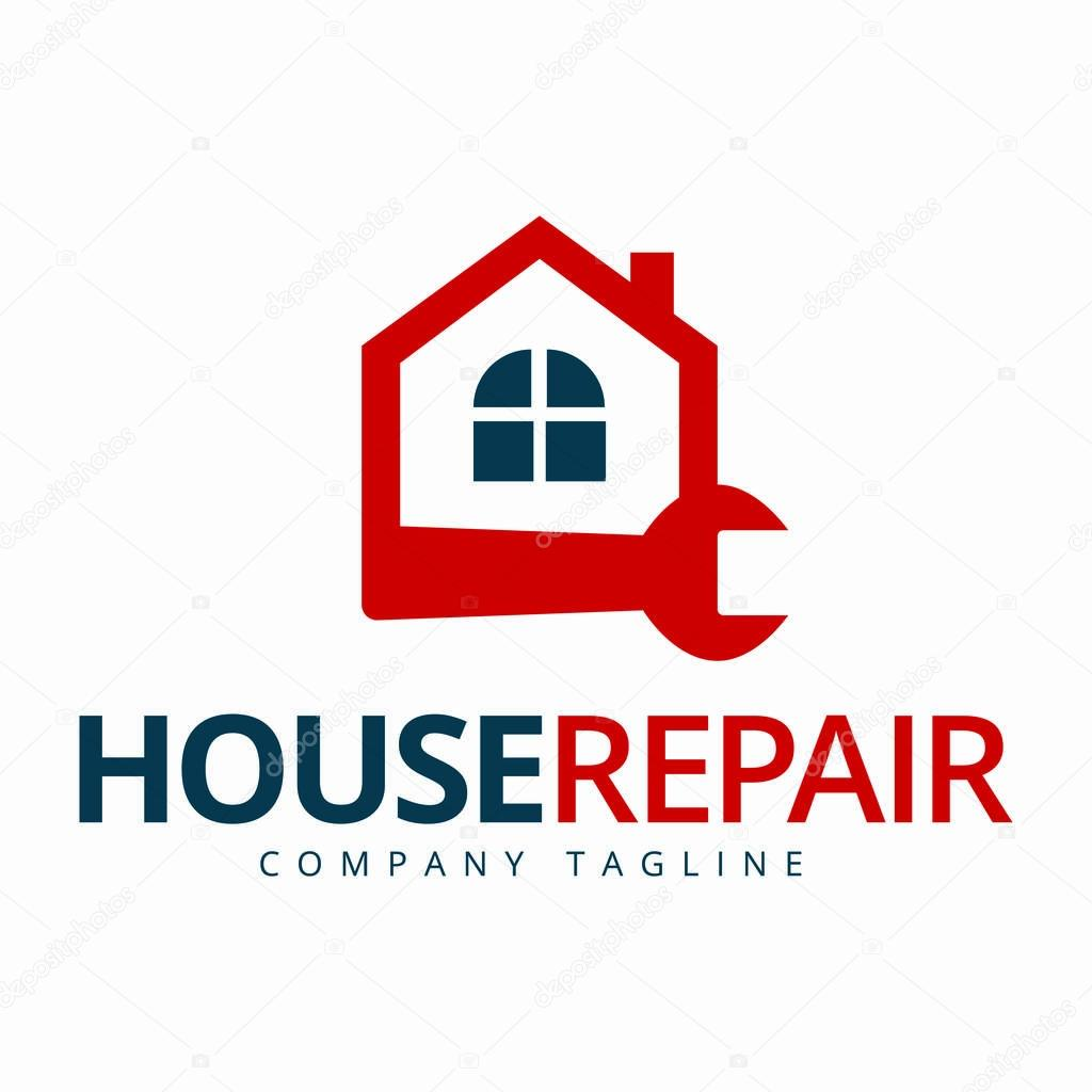 House maintenance logo Home repair icon Builder company