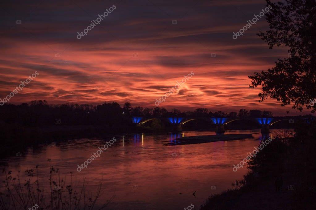 Van Gogh sunset sky