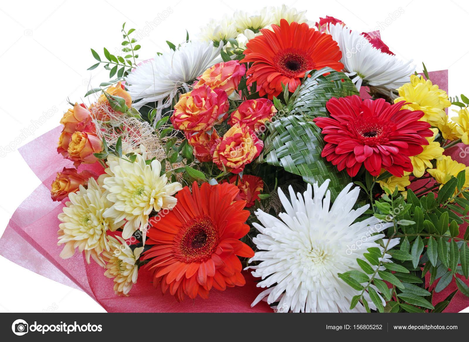 magnifique bouquet de fleurs sur blanc photographie. Black Bedroom Furniture Sets. Home Design Ideas