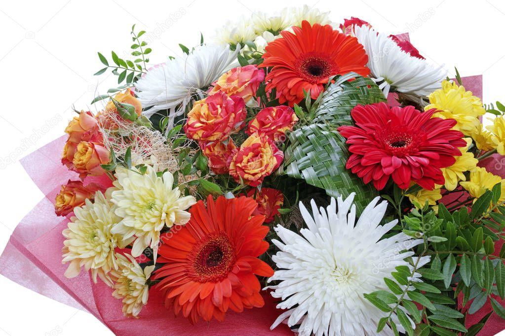 magnifique bouquet de fleurs sur blanc photographie ra3rn 156805252. Black Bedroom Furniture Sets. Home Design Ideas