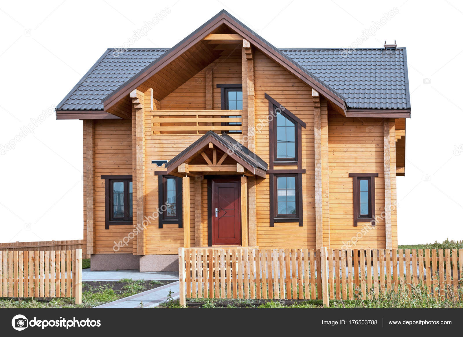 Een Nieuw Huis : Nieuw huis uit geprofileerde bar op wit u2014 stockfoto © ra3rn #176503788