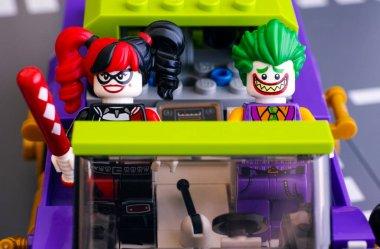 Lego The Joker and Harley Quinn minifigures in The Joker Notorio