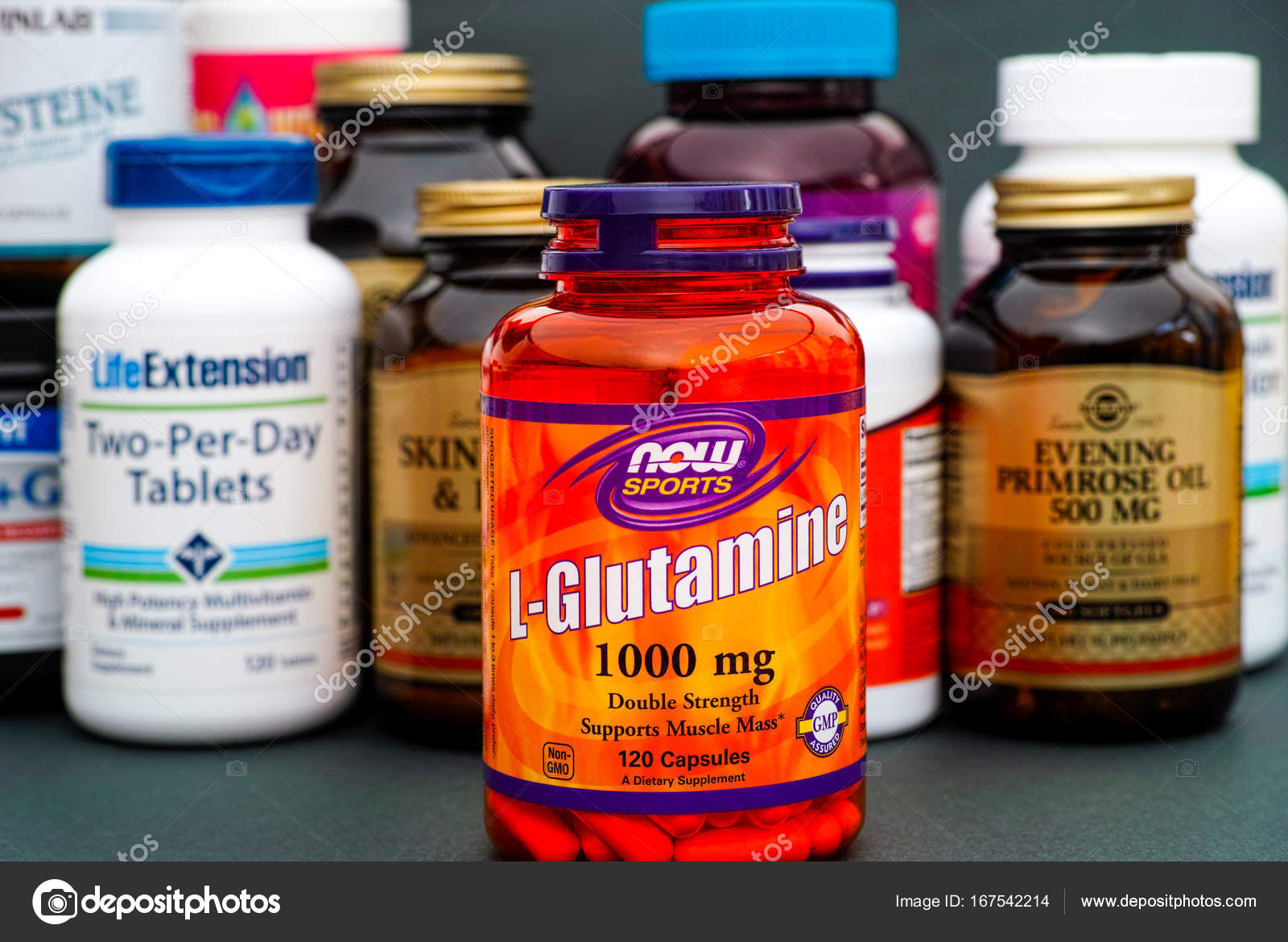now gamess l-glutamine powder