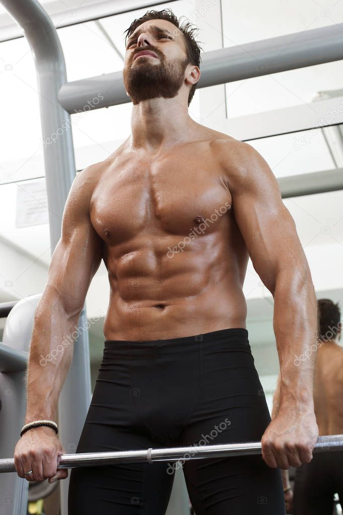 Bodybuilder Lifting Some Weights Stock Image - Image of