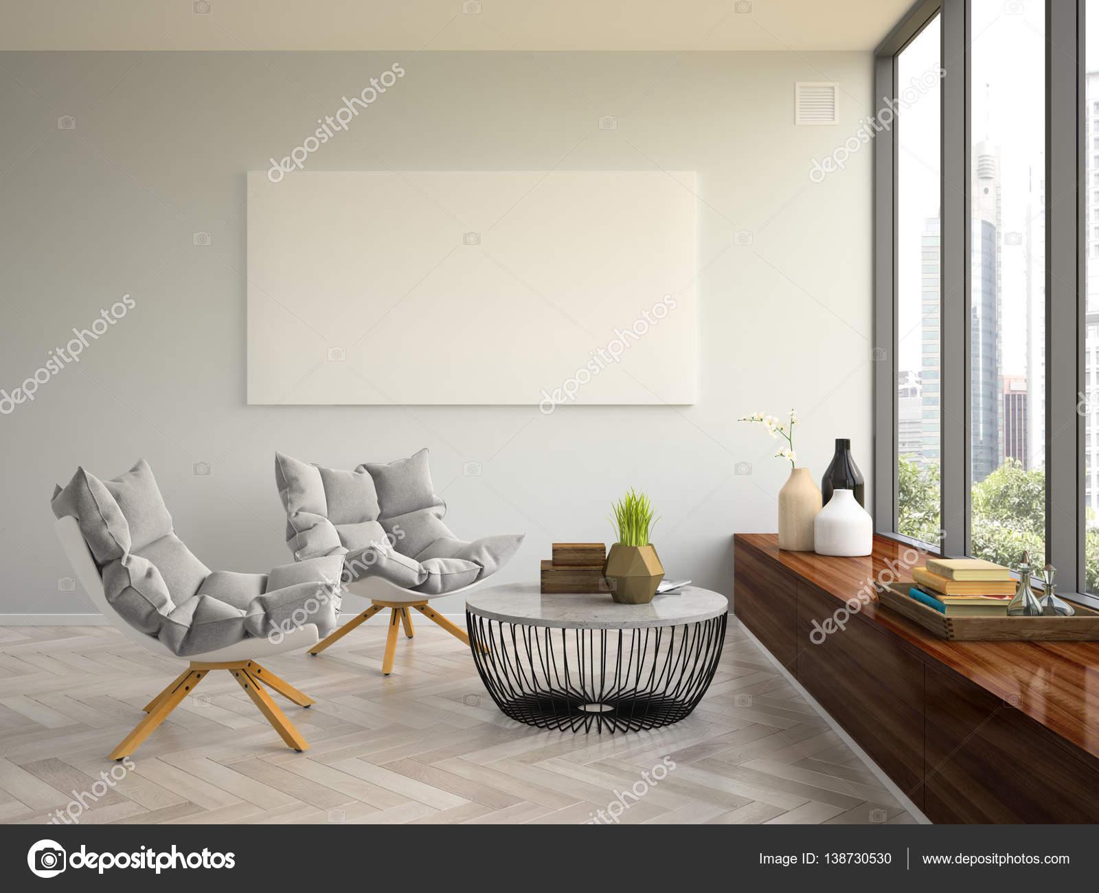 Interieur modern design kamer d illustratie u stockfoto hemul