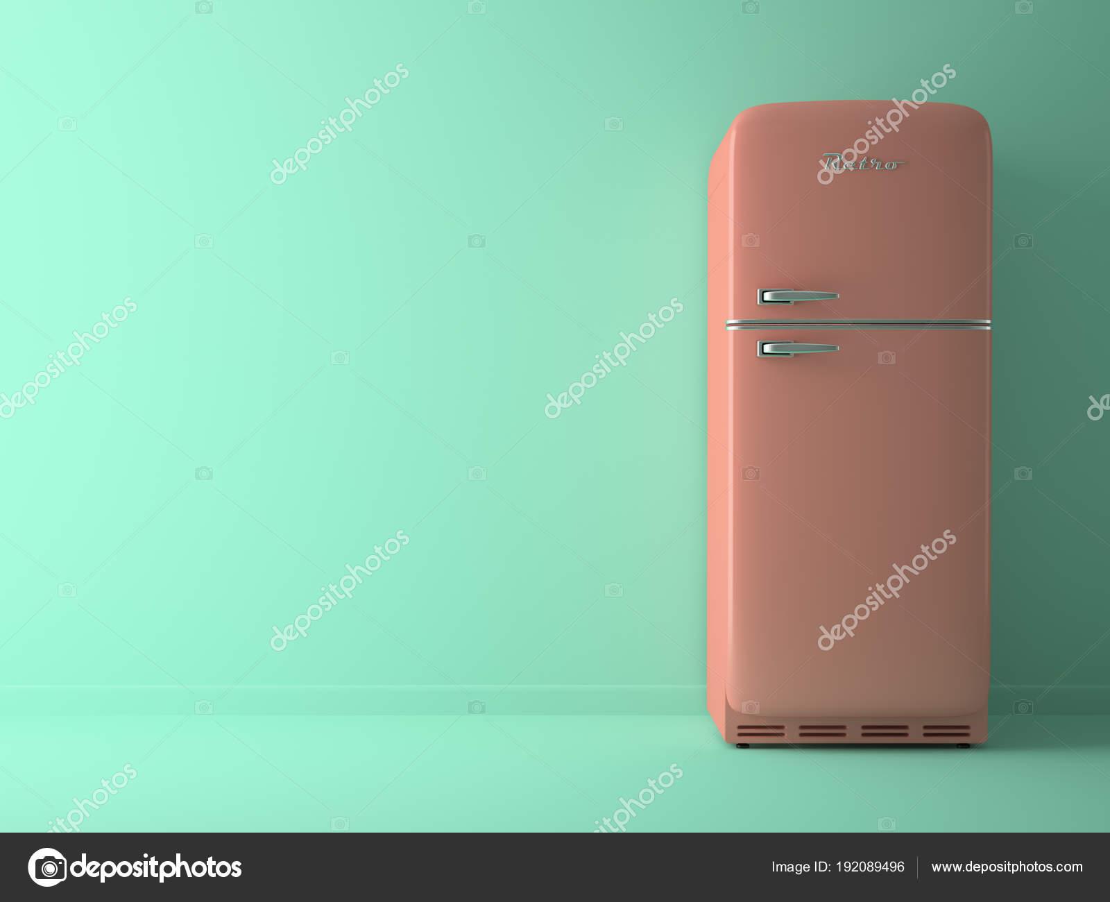 Kühlschrank Rosa : Blaue innenraum mit rosa kühlschrank d illustration u stockfoto