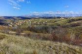 Panorama del villaggio di Lozenitsa vicino alla città di Melnik, regione di Blagoevgrad