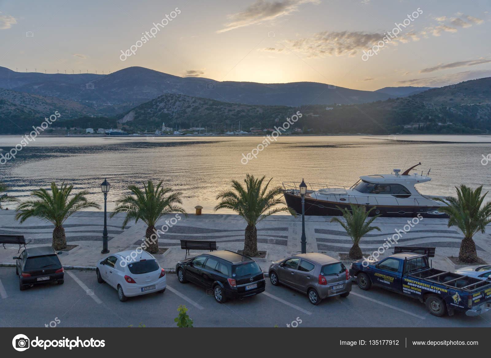 Argostoli Kefalonia Greece May 26 2015 Amazing Sunrise