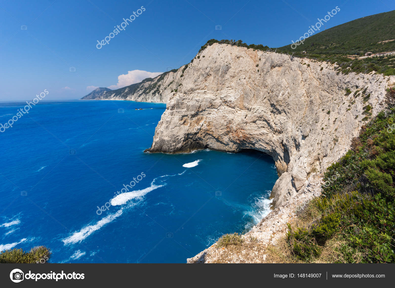 rocks near porto katsiki lefkada ionian islands