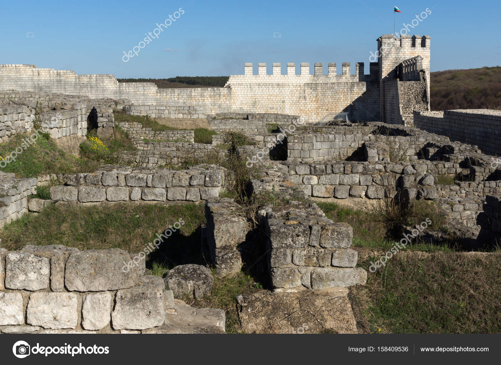Archaeological Site Shumen Fortress Bulgaria Stock Photo