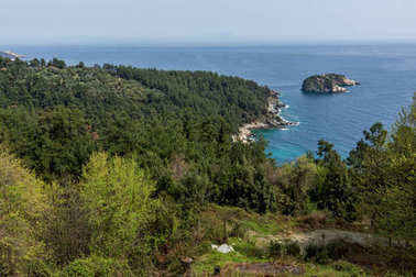 Amazing Seascape to Gramvousa island in Thassos,  East Macedonia and Thrace, Greece