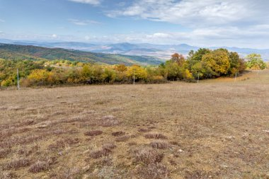 Autumn Panoramic view of Cherna Gora mountain, Pernik Region, Bulgaria