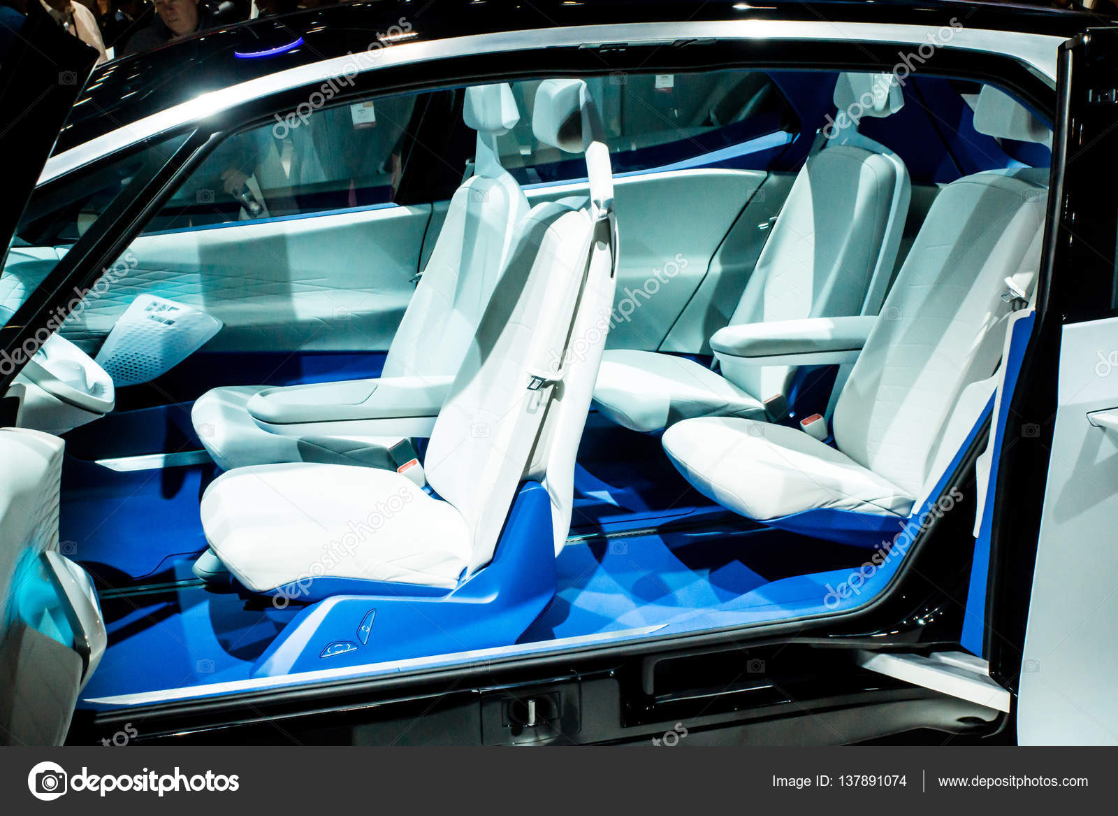 Volkswagen Electric Concept Car At CES Stock Editorial Photo - Vw car show las vegas