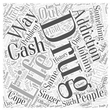 Johnny Cash Drug Addiction word cloud concept