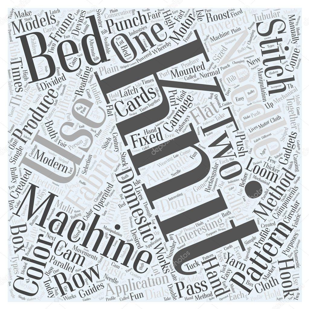 Concepto de nube de word de máquinas de tejer — Vector de stock ...