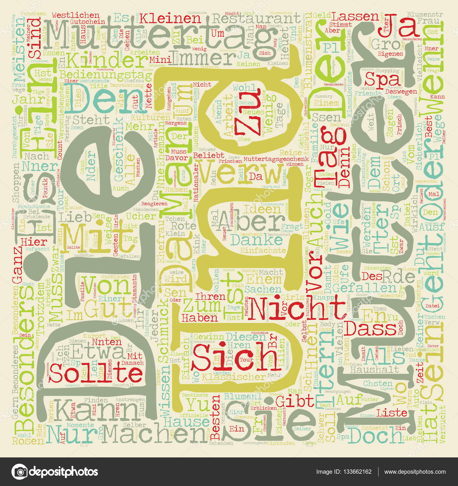 Ideen Muttertag muttertag geschenke ideen text background wordcloud concept stock
