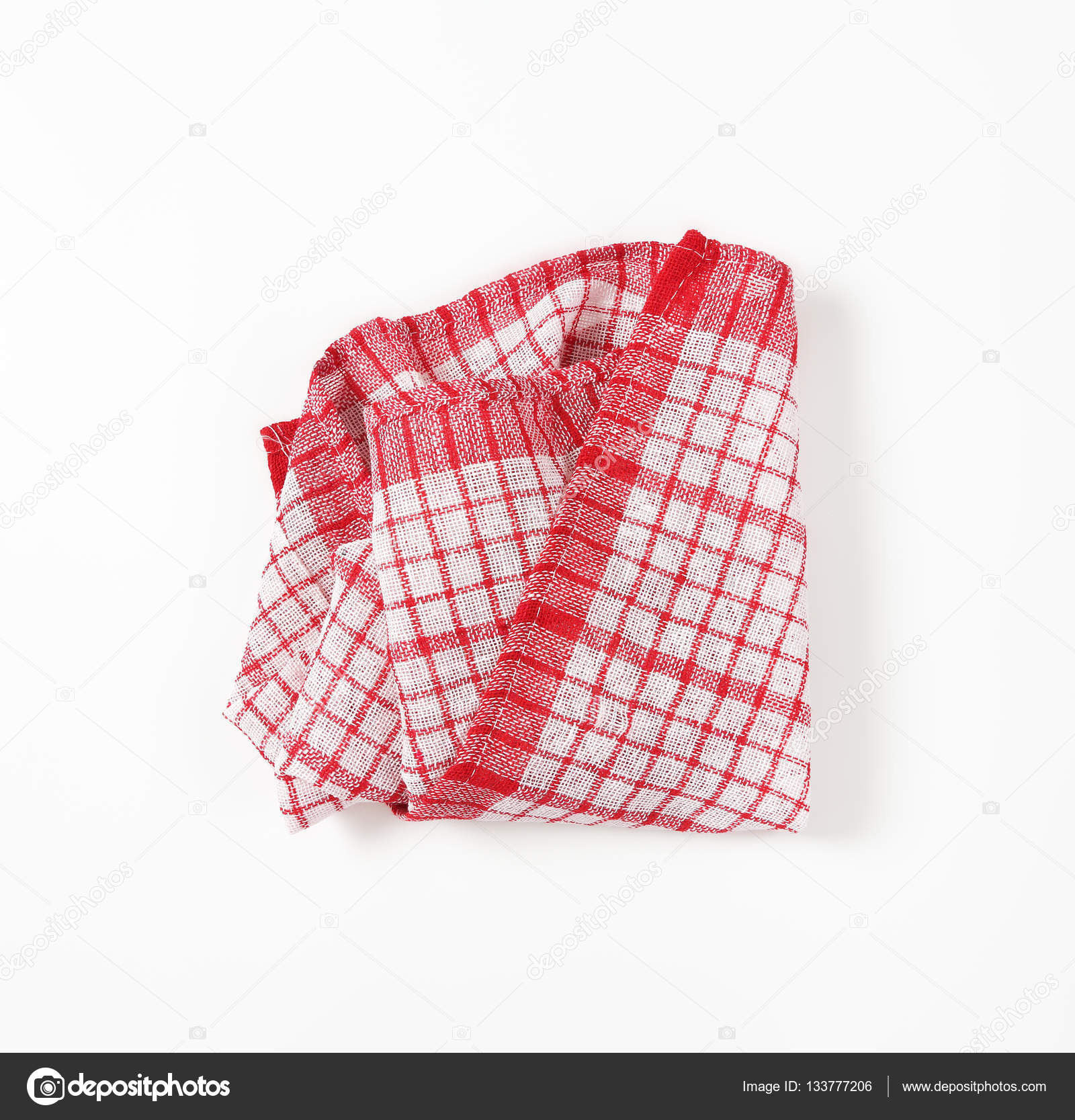 canovaccio da cucina rossa e bianca — Foto Stock © ajafoto #133777206