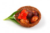 Photo Easter eggs with eco friendly decoration