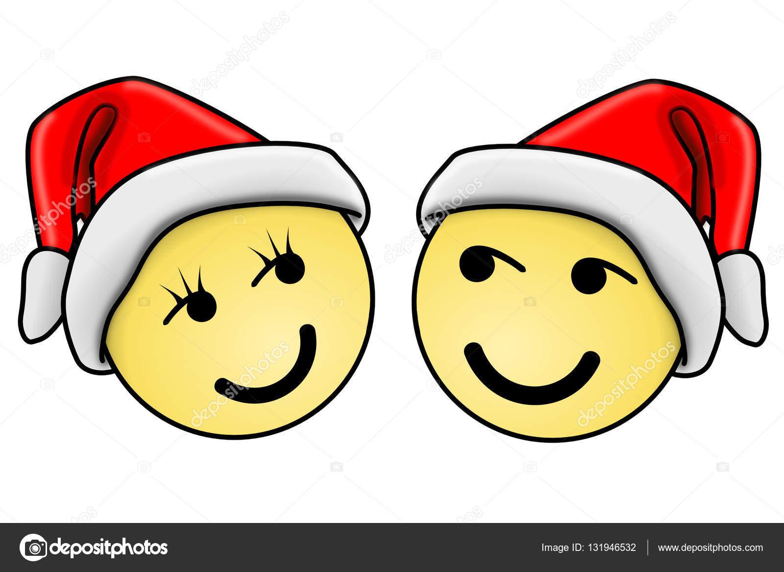 Weihnachten-Smiley-Gesicht — Stockfoto © hd-design #131946532