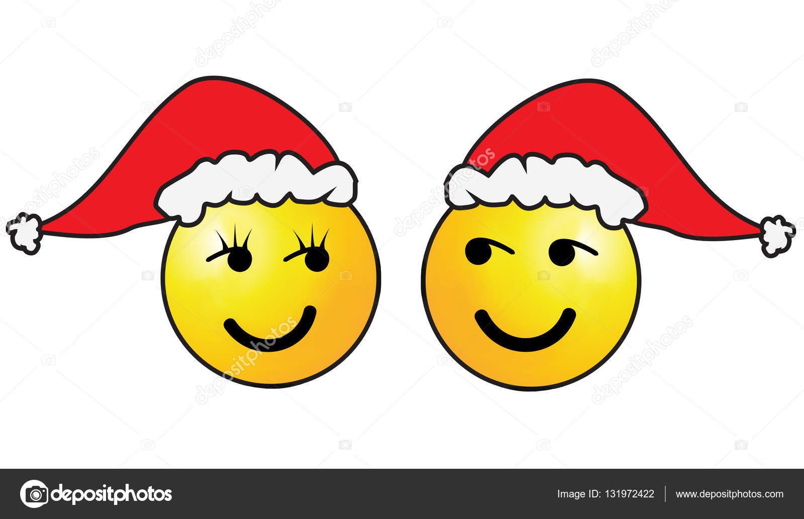 Weihnachten-Smiley-Gesicht — Stockfoto © hd-design #131972422