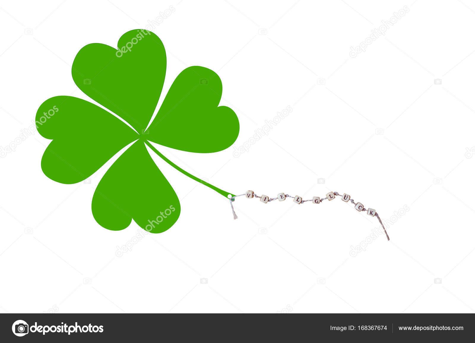 Buona fortuna e un quadrifoglio foto stock hd design - Immagini di quadrifoglio a quattro foglie ...