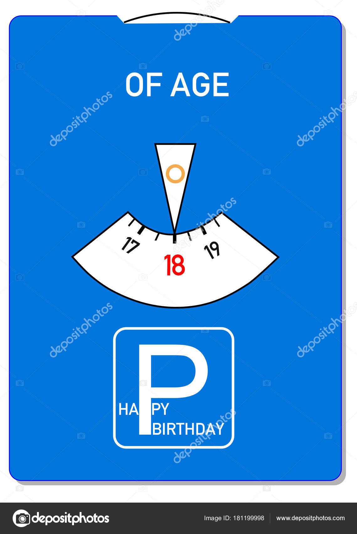 Birthday Card 18Th Word Age Stock Image