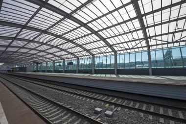 Little Ring of the Moscow Railways- MCC,or MK MZD, is a 54.4-kilometre-long orbital railway in Moscow.Russia. Opened 10 September 2016. Luzhniki railway station