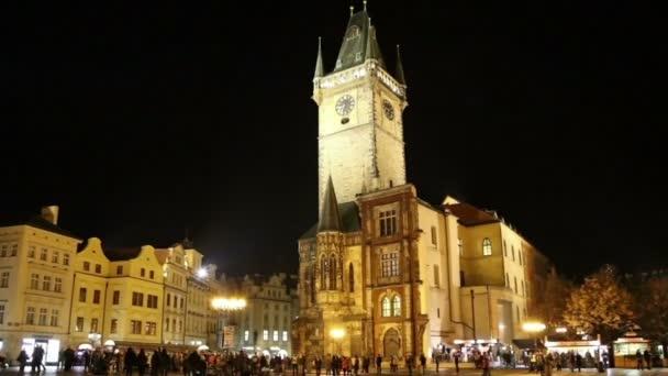 Staroměstské radnice v Praze (noční pohled), Prohlédni od Staroměstského náměstí, Česká republika