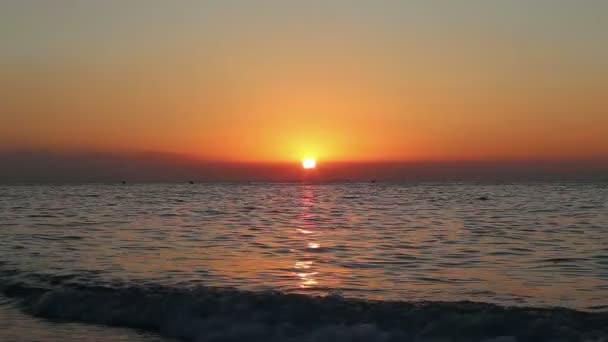 Beautiful sunrise on the beach. Costa del Sol(Coast of the Sun), Malaga in Andalusia, Spain