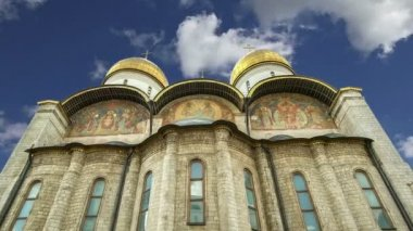 Katedrála Nanebevzetí (byl místem korunovace ruských carů), moskevského Kremlu, Rusko. Světového dědictví UNESCO