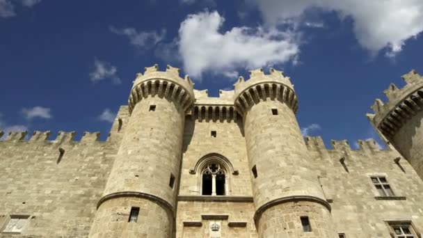 Rodosz, Görögország, Rodosz, a híres lovagok nagymestere palota (más néven castello) a Rodosz középkori városától, egy must-látogat museum of rhodes jelképe