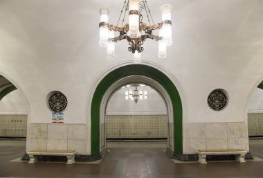 Metro station VDNKh in Moscow, Russia. It was opened in 01.05.1958