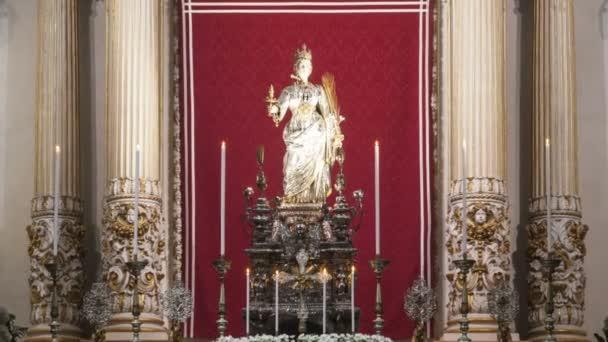 Kathedrale von Syrakus (sirakus, sarausa) -- historische stadt in sizilien, italien (ken burns effect)