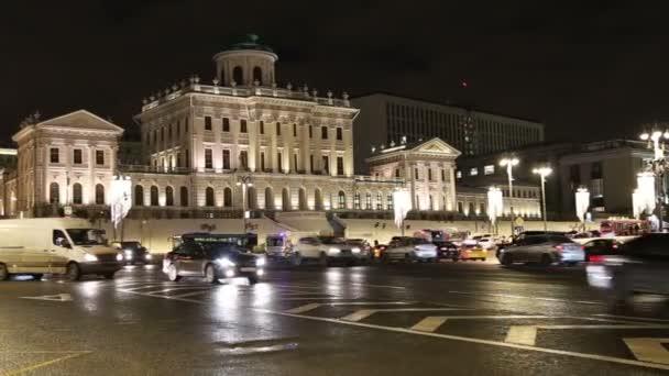 Moskva, Rusko - 04 ledna 2018: Paškovův dům, neoklasicistním sídle poblíž Kremlu (o Vasiliji Baženovi), Moskva, Rusko