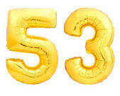 Photo Golden number 53 of inflatable balloon