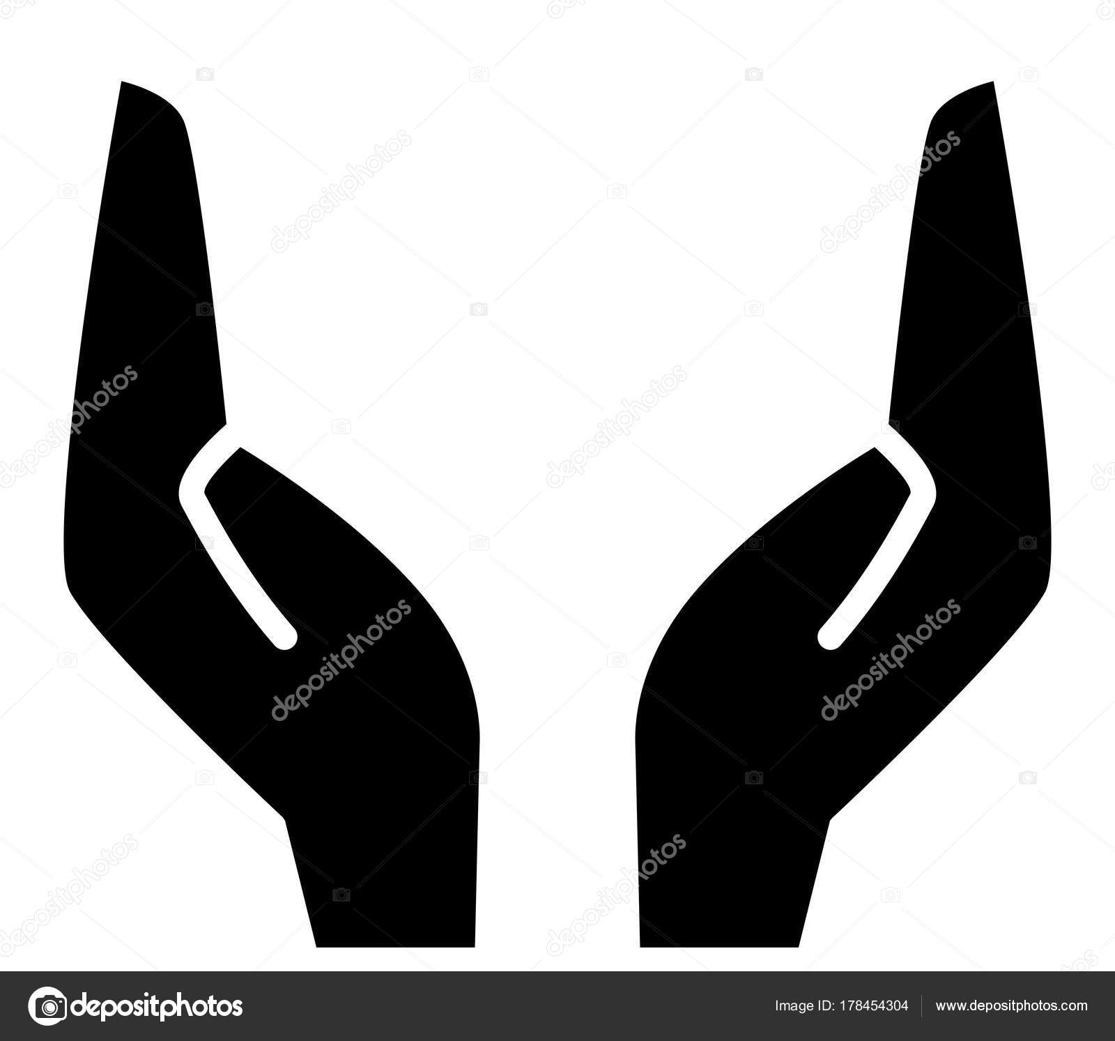 vector icon two supporting hands stock vector furtaev 178454304