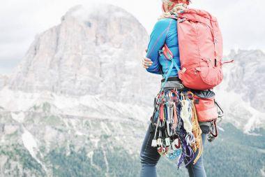 Trad climbing gear rack
