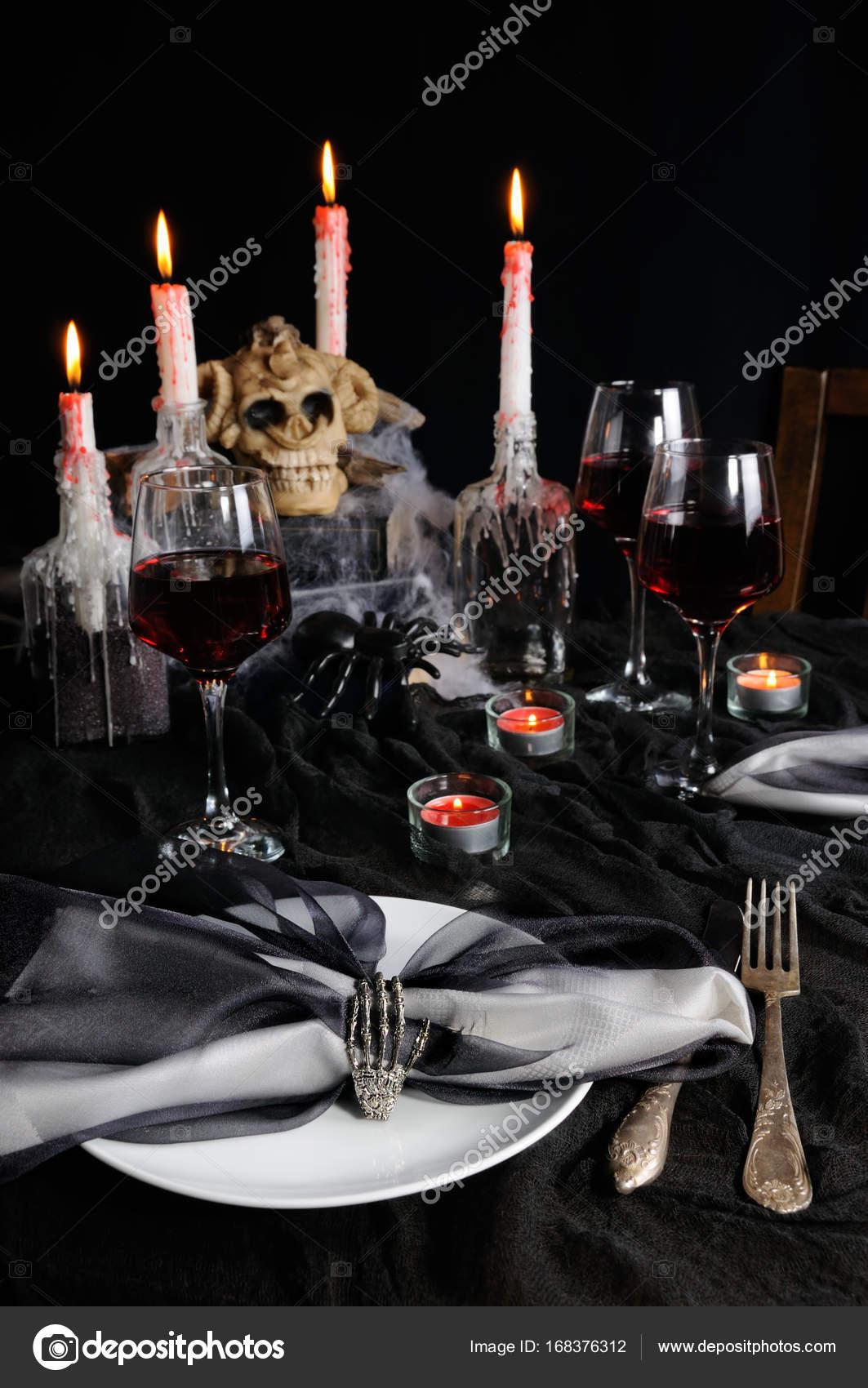 Table Setting For Halloween Stock Photo C Apolonia 168376312