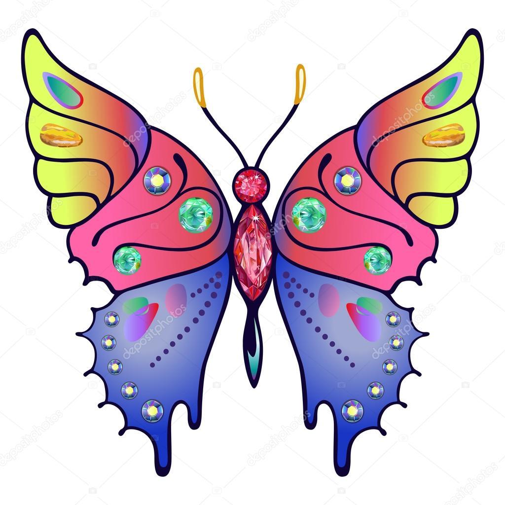 Dibujos Mariposas Coloreadas Para Imprimir Mariposa Coloreada