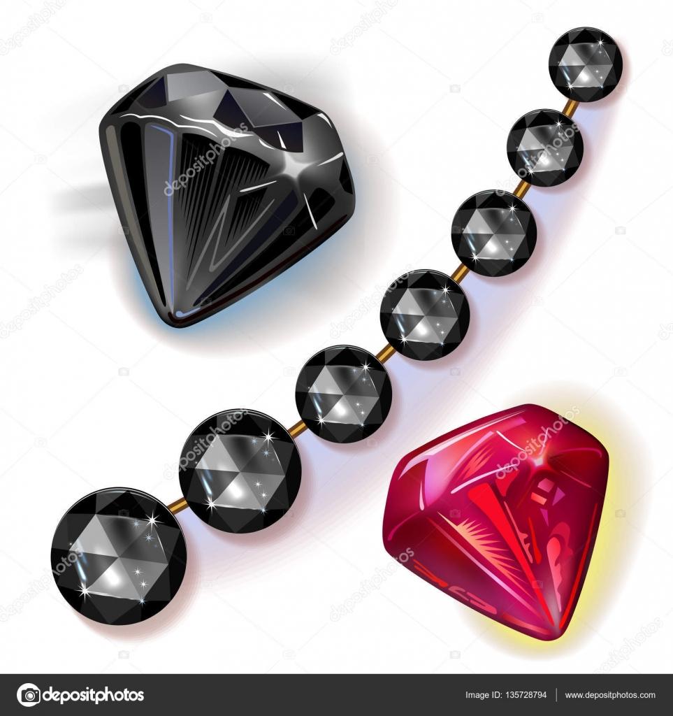 cf7876081495 Conjunto de joyas de piedras preciosas — Vector de stock © arlatis ...
